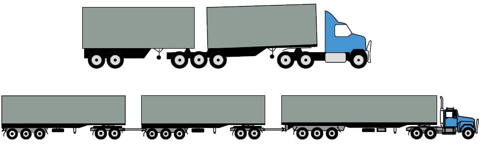 Multi-combination vehicle
